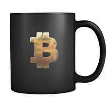 Bitcoin Hammered Logo Black Mug-Fashion For Crypto