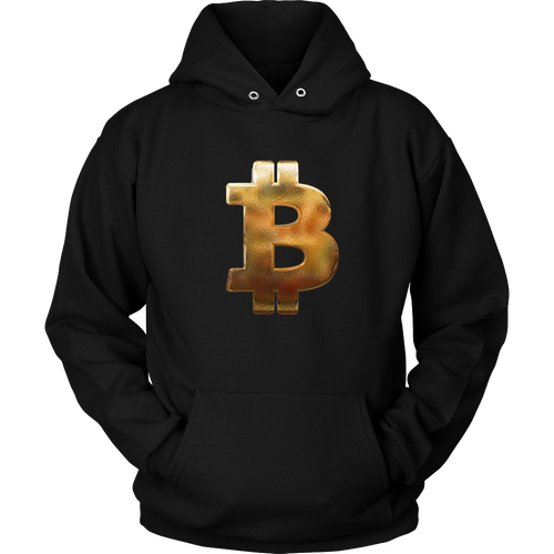 Bitcoin Hammered Logo Hoodie-Fashion For Crypto