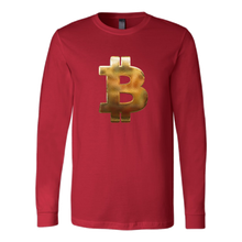 Bitcoin Hammered Logo Long Sleeve Shirt-Fashion For Crypto