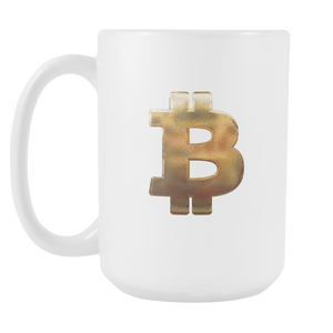 Bitcoin Hammered Logo Tall Mug-Fashion For Crypto