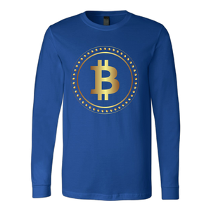 Bitcoin Hollow Ring Long Sleeve Shirt-Fashion For Crypto