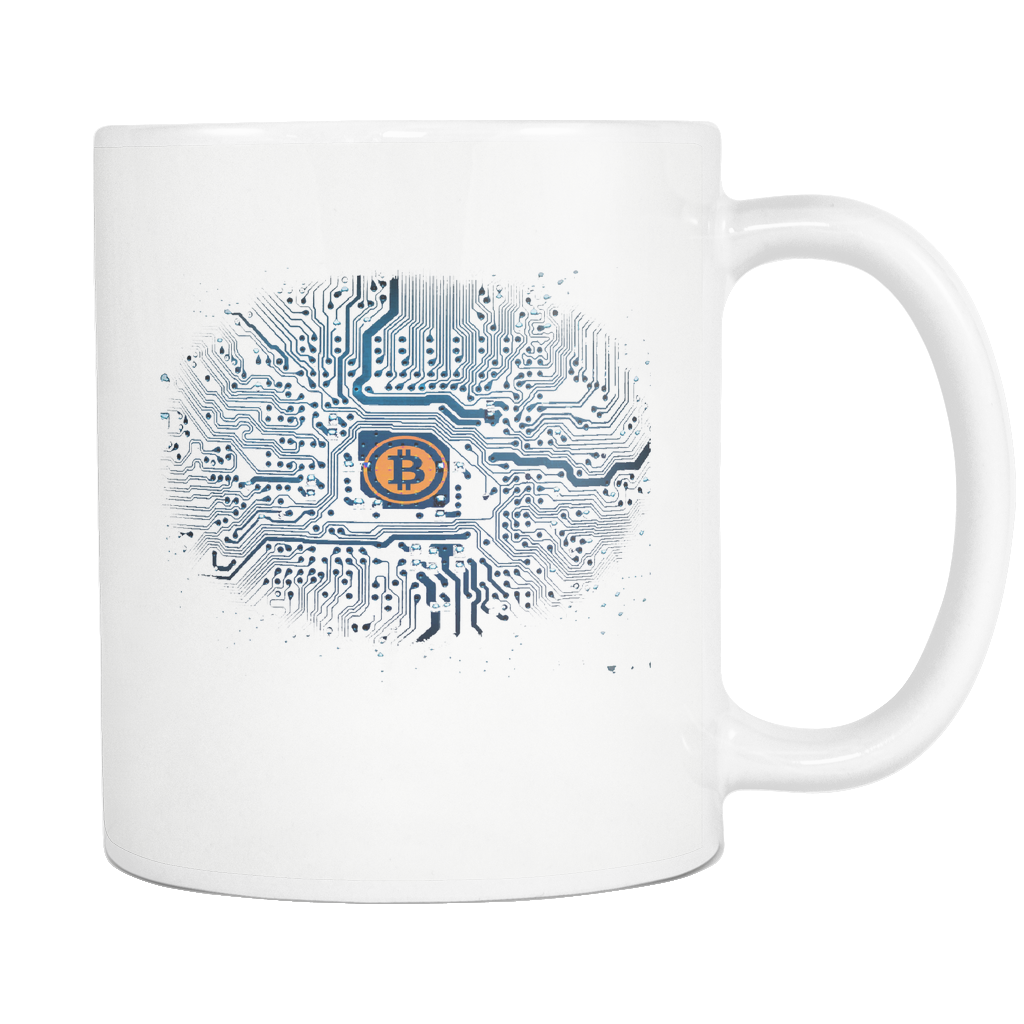 Bitcoin Motherboard White Mug-Fashion For Crypto