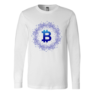 Bitcoin Network Wreath Long Sleeve Shirt-Fashion For Crypto