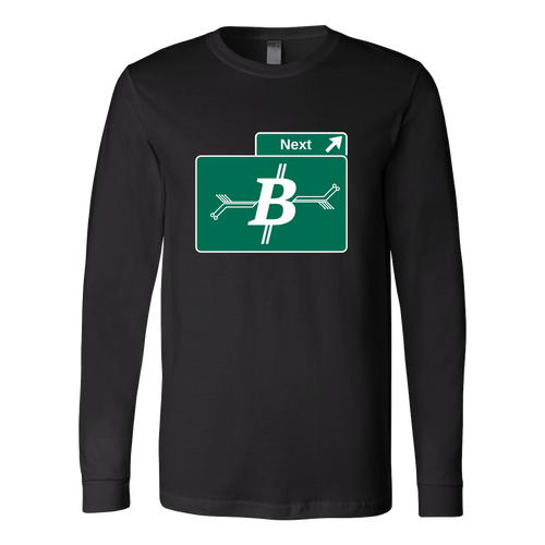 Bitcoin Road Sign Long Sleeve Shirt-Fashion For Crypto