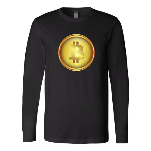 Bitcoin Shiny Coin Long Sleeve Shirt-Fashion For Crypto