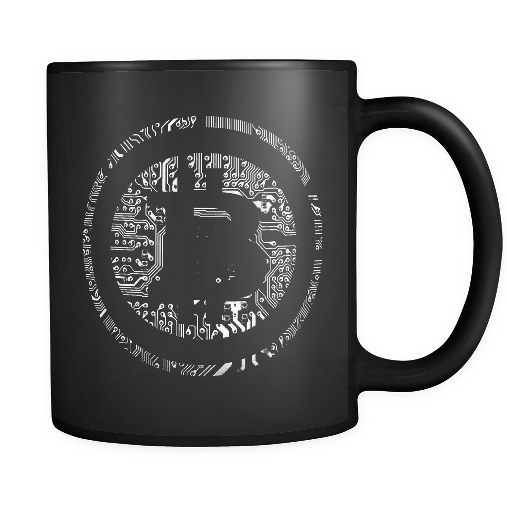 Bitcoin Soldered Circuits Black Mug-Fashion For Crypto