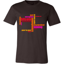 Bitcoin Word Jumble Short Sleeve Shirt-Fashion For Crypto