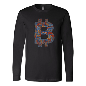 Bitcoin Word Logo Long Sleeve Shirt-Fashion For Crypto