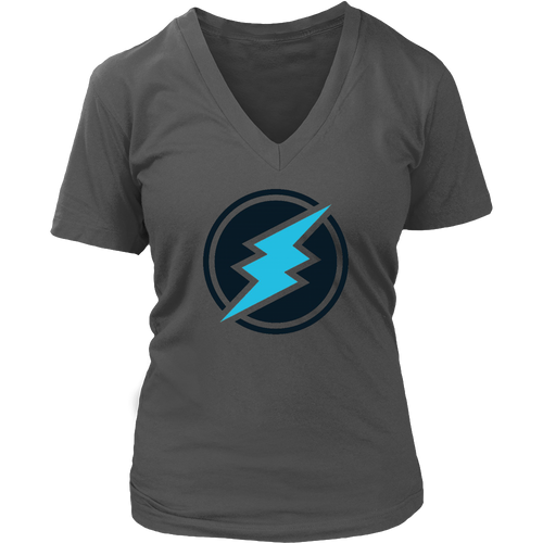 Electroneum Logo Womens V-Neck Shirt