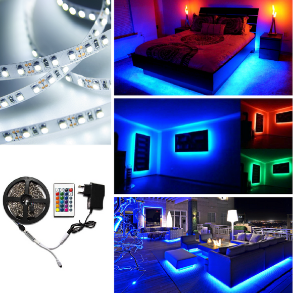 RaveRoom LED Light Strip + Color Controller