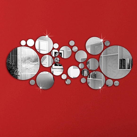 Bubble Mirror Wall Stickers 30 Piece Set