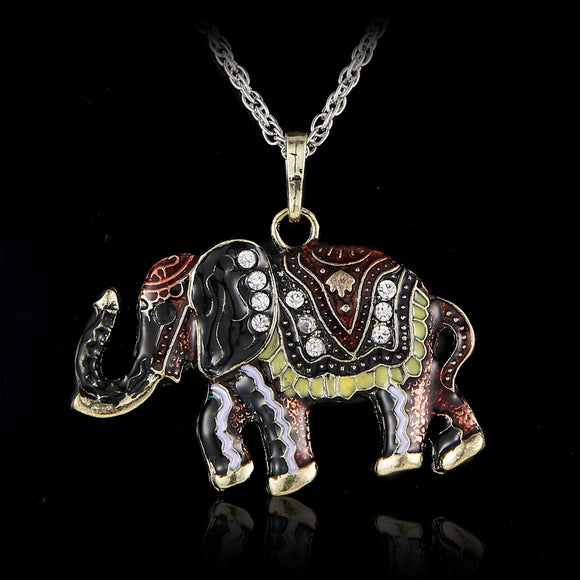 Crystal Elephant Pendant Necklace - Free Shipping Limited Time Special Offer!