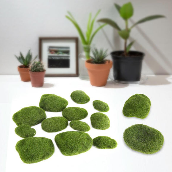 Forever Moss 12 Piece Moss Covered Rock Set