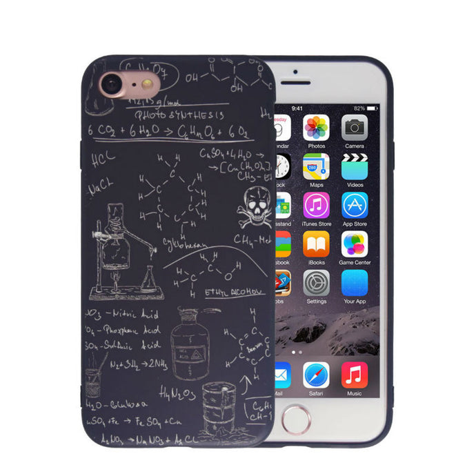 Chemistry Case For iPhone 5 /5S /SE /6 /6S /7 7 Plus, Dirty-resistant Scrub
