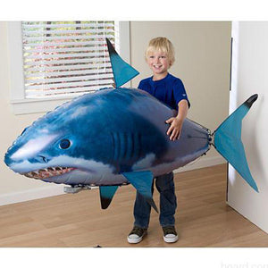 Air swimming drone Shark and Nemo inflatable with Helium