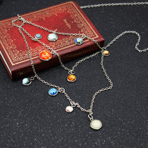 Starry Elegant Multilayer Necklace / Solar System