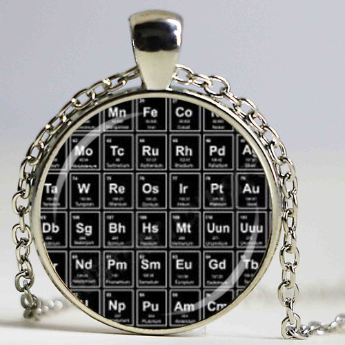 Products tagged necklace chemists memes periodic table of elements glass dome pendant necklace keychain pins urtaz Image collections