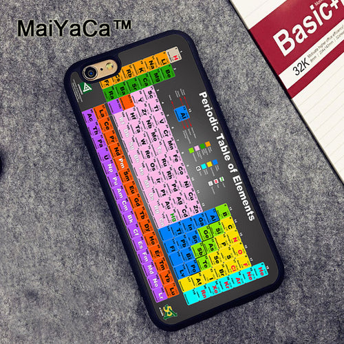Chemistry Periodic Tables Shell Skin Phone Case For iPhone