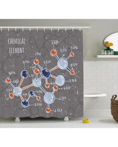 High Quality Chemistry waterproof shower curtain