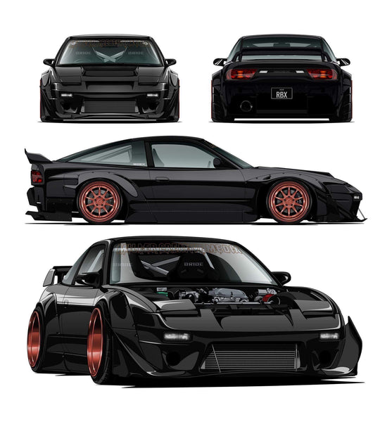 James Miller's concept for his Nissan 180SX