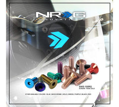 NRG Steering Wheel Neo Chrome Screw Kit 6pcs SWS-100MC