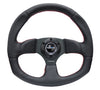 "NRG ""Race Style"" Leather Steering Wheel w/Red Stitch"