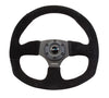 "NRG ""Race Style"" Suede Steering Wheel w/Black Stitch"