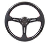 "NRG ""Nardi Style"" Carbon Fibre Steering Wheel with Leather and Red Stitch (pre-order)"