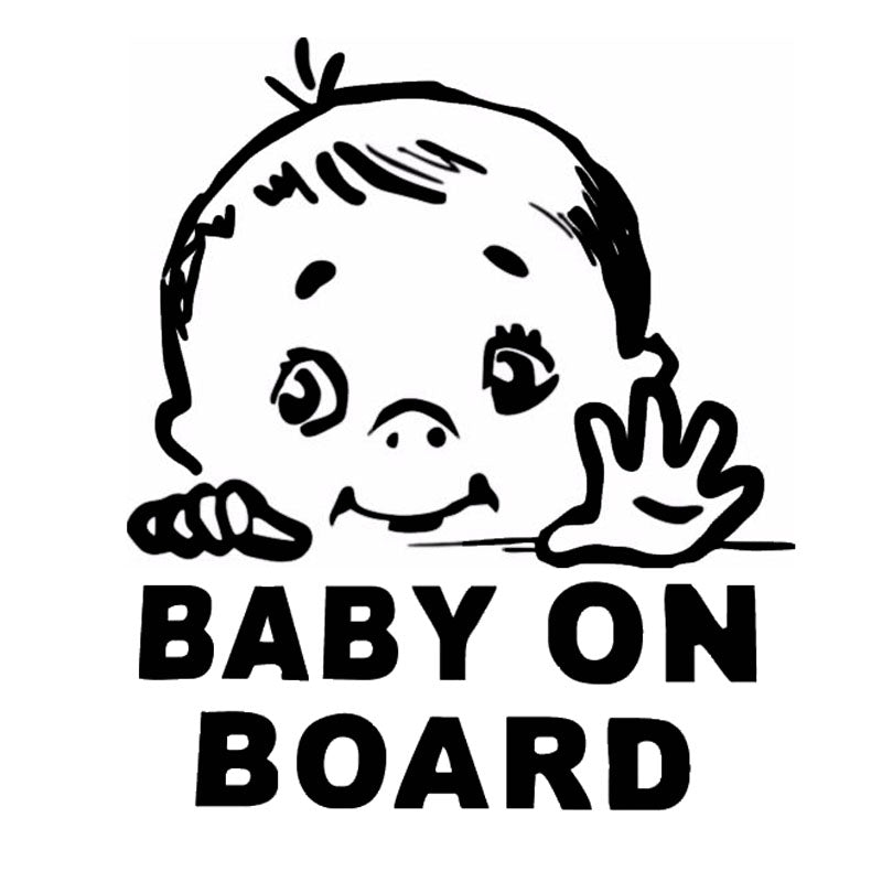 13 115 2cm lovely child baby on board safety sign car stickers and decal vinyl car styling black silver c9 2319