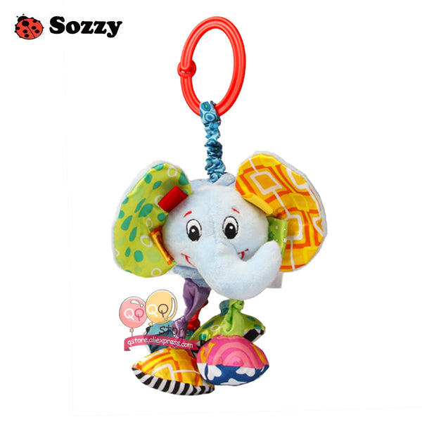 Sozzy Baby Soft Plush Stuffed Pull And Vibrate Car Seat Stroller Crib Mobile Hanging Decorations Funny