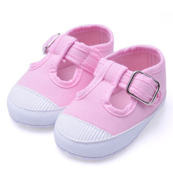 f5809711131cce Newborn Baby Soft Anti-Slip Shoes Girl Footwear Crib Canvas Shoes Sneakers  baby girls shoes