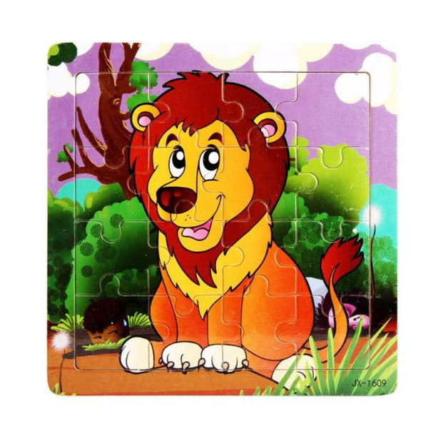 Lion Pattern Wooden Jigsaw Toys For children Kids Educational Toy Puzzles  Brain Teaser Puzzle Kid toys Wood Puzzles toy