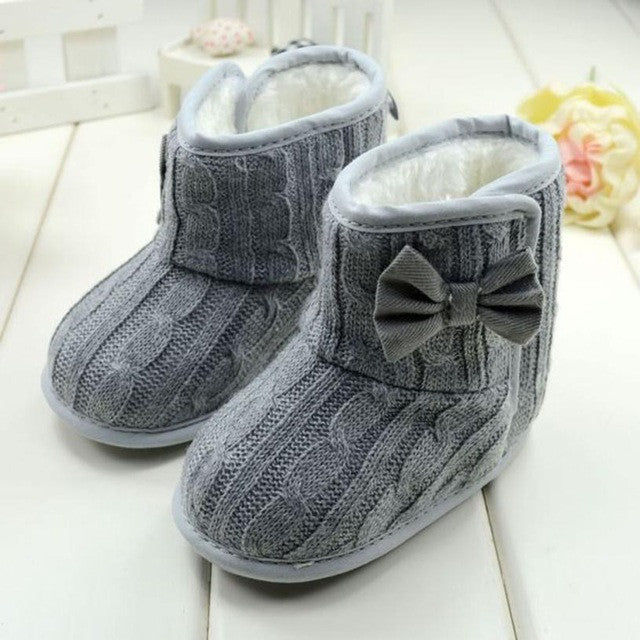 2e1ef840eb03 cute Soft Sole Winter baby shoes girls Warm Shoes Boots baby shoes for Baby  Bowknot girls children footwear