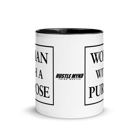 Woman With A Purpose Mug with Color Inside