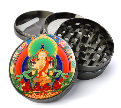 Bodhisattva #1 Extra Large 5 Piece Spice & Herb Grinder WIth Fine Screen