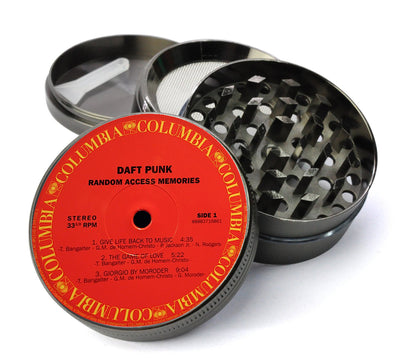Daft Punk Vinyl LP Label - Random Access Memories - Deluxe Metal 5 Piece Herb Grinder With Microfine Screen