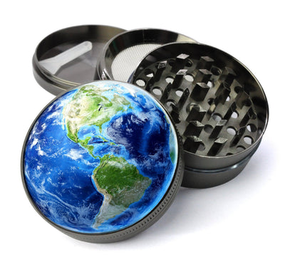 Planet Earth Extra Large 5 Piece Spice & Herb Grinder With Microfine Screen