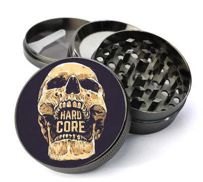 Hard Core Skull Large 5 Piece Spice & Herb Grinder With Microfine Mesh Screen