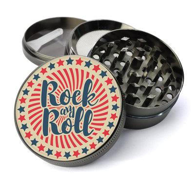 Classic Rock and Roll Large 5 Piece Spice & Herb Grinder With Microfine Mesh Screen