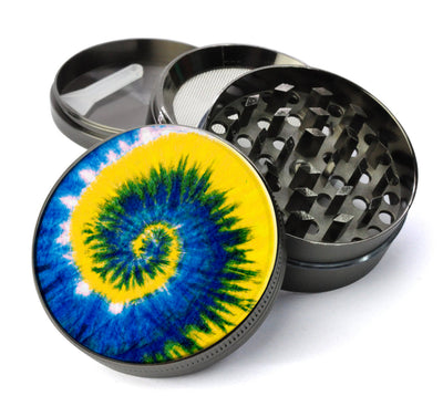 Peace, Love and Tie Dye #1  Metal 5 Piece Herb Grinder With Microfine Screen