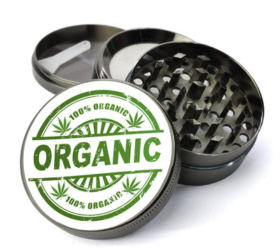 100% Organic Large 5 Piece Spice & Herb Grinder With Microfine Mesh Screen