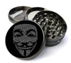 V For Vendetta Mask Extra Large 5 Piece Spice  Herb Grinder with / Catcher - Expression Tees