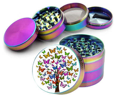 Multi-Color Butterfly Tree Spice Grinder