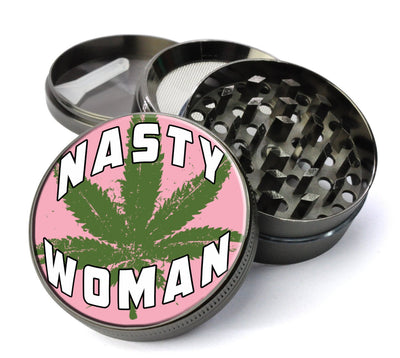 Nasty Woman Extra Large  Grinder with  Catcher - Deluxe Feminist Cheap  Grinder - Expression Tees