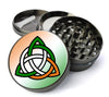 Irish Celtic Knot Extra Large 5 Piece Spice  Herb Grinder with / Catcher - Expression Tees