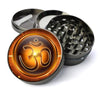 Om Symbol AUM Mantra Extra Large 5 Piece Spice  Herb Grinder with / Catcher - Expression Tees