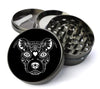 Pitbull Sugar Skull Extra Large 5 Piece Spice  Herb Grinder with / Catcher - Expression Tees