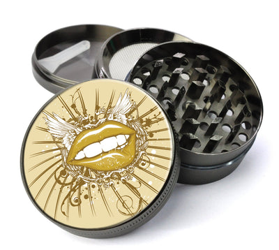 Winged Lips Extra Large 5 Piece Spice  Herb Grinder with / Catcher - Expression Tees