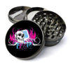 Skull with Flourish Extra Large 5 Piece Spice  Herb Grinder with / Catcher - Expression Tees