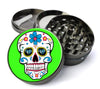 White Sugar Skull Extra Large 5 Piece Spice  Herb Grinder with / Catcher - Expression Tees